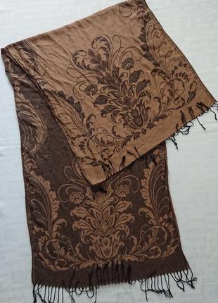 Роскошный кашемировый палантин pashmina/ шарф двусторонний