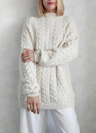 Базовый бежевый оверсайз свитер джемпер george