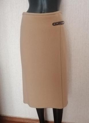 Стильная шерстяная юбка миди