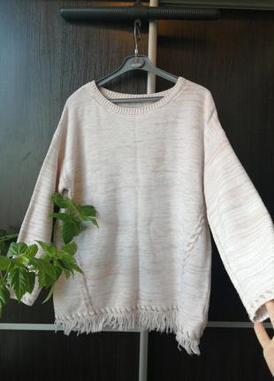 Шикарный свитер кофта с бахромой. хлопок, акрил. marks&spencer