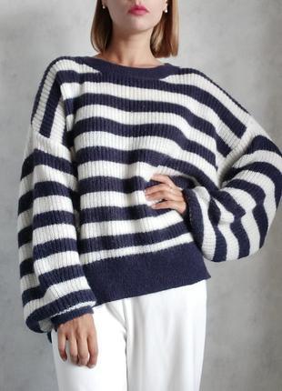 Базовый оверсайз свитер джемпер реглан кофта h&m