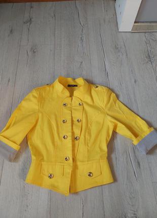 Пиджак,жакет, джинсовый укороченный,куртка