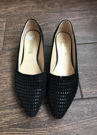 Туфли чёрные gabor , кожаные туфли , женские туфли 41 размер