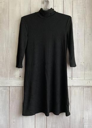 Платье чёрное под горло / george