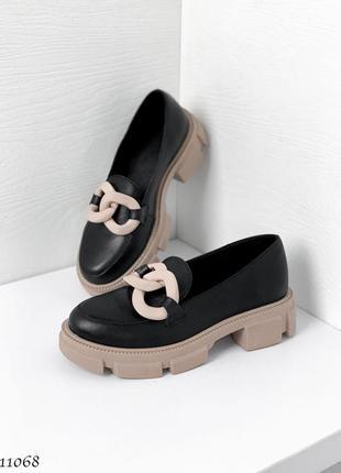 Туфли black кожа