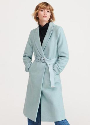 Мятное базовое пальто плащ тренч reserved