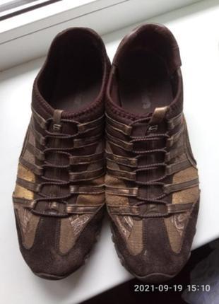 Skechers кроссовки замшевые,размер 39