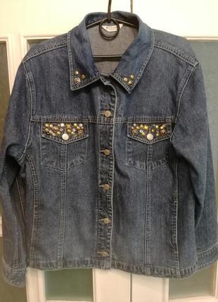 Куртка джинсовая зауженная талия