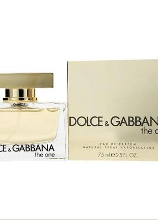 Dolce&gabbana the one for women's eau de parfum 75 ml