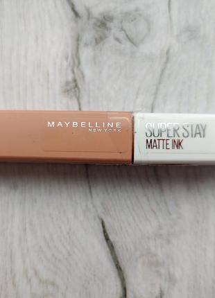Бежевая нюдовая нюд матовая помада maybelline super stay matte ink