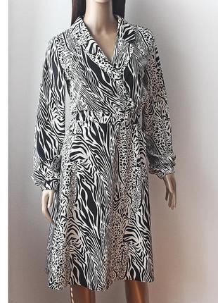 Легкое очень красивое платье с анималистичным принтом
