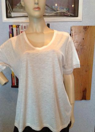 Натуральная футболка - блуза оверсайз, бренда h&m, р. 54-58