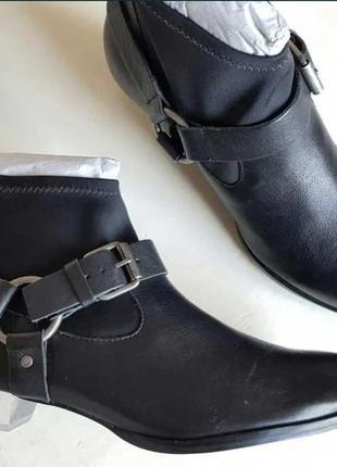 """Кожаные ботинки """"козаки"""" 38,5 бразилия"""