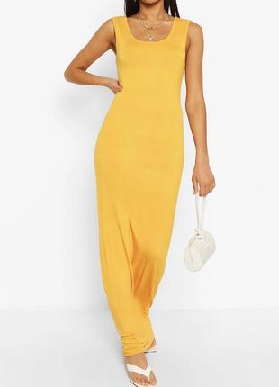 Макси платье на бретелях   boohoo   желтое 💛  тонкая 💭  лёгкая 💭  тянется 💭