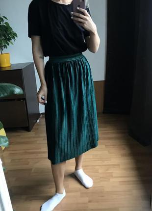 Велюровая юбка плиссе