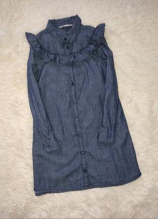 Платье-рубашка 7-8 лет