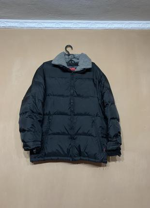 Пуховая зимняя куртка  тёплая не продуваемая большой размер 58 60 красивая чёрная