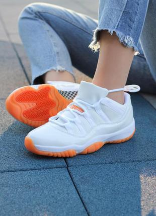 Хит продаж женские кроссовки nike air jordan 11 retro low citrus наложка