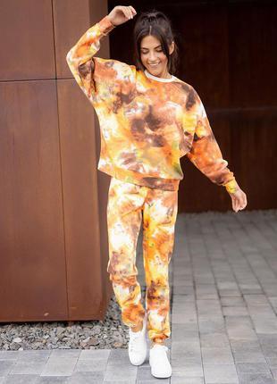 Трикотажный костюм в стиле тай-дай. есть другие расцветки