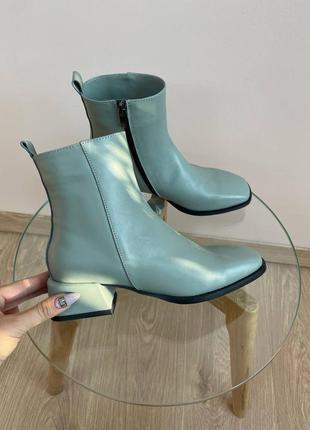 Эксклюзивные ботинки из натуральной итальянской кожи оливка