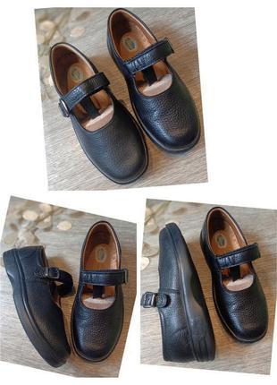 Туфли натуральная кожа dr. comfort на широкую ногу