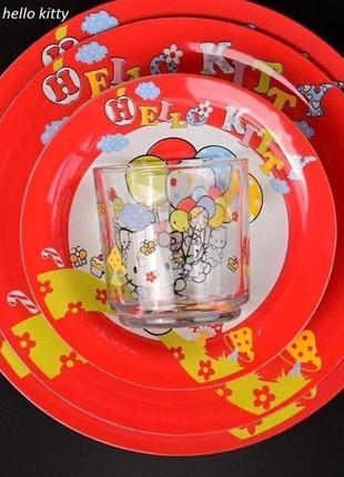 Набор детской посуды из 4-х предметов