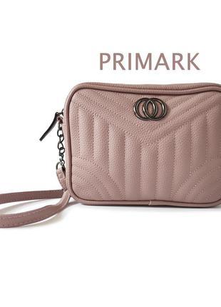 Маленькая сумочка на коротком ремешке розовая экокожа