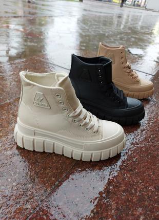 Высокие кеды 🌿 кроссовки кеди ботинки на платформе осенние деми