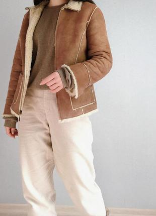 Куртка дубленка осень-весна-зима размер м