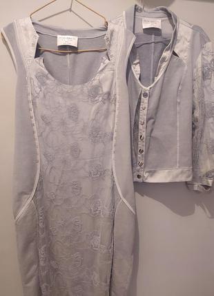 Elisa cavaletti дизайнерское платье жакет костюм.