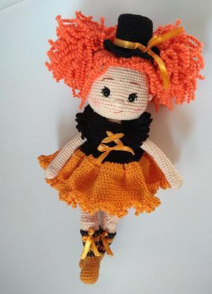 Кукла в платье. ручная работа