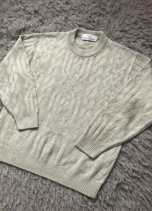 Очень красивый свитер с узором m&s кофта водолазка под шею