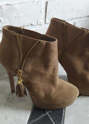 Ботильйоны туфли замшевые осень