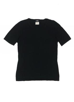 Chanel футболка чёрная