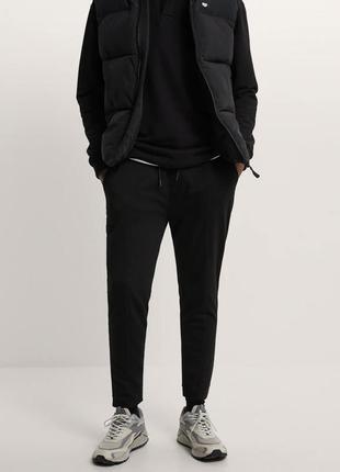 Черные мужские джоггеры, джогери чоловічі, спортивні штани чорні, вузького крою.
