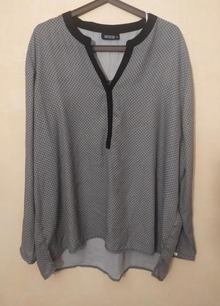 56-58!батал большой размер шикарная офисная стильная блузка блуза блузочка
