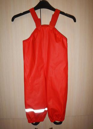 Непромокаемые штаны полу-комбинезон h&m р.92см(2 года)