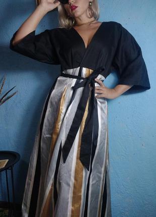Оригинальное платье в  восточном стиле  крой кимано