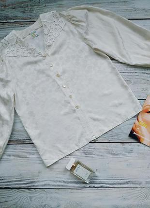 Винтажная блуза из 100% шёлка