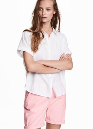 Слегка удлиненные хлопковые розовые шорты от h&m l.o.g.g.
