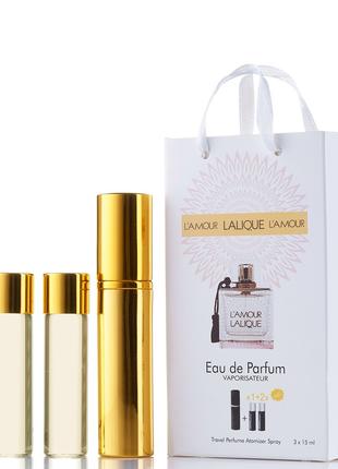Мини-парфюм lalique l'amour, женский 3х15 мл