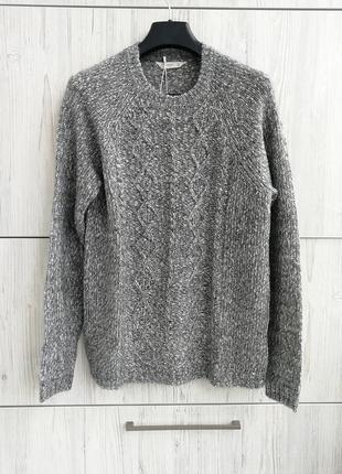 Брэндовый тёплый свитер mango