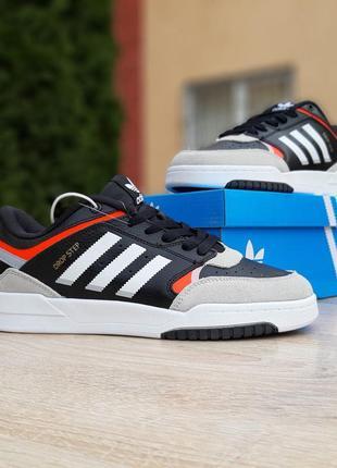 Кроссовки мужские adidas drop step чёрные с белым адидас