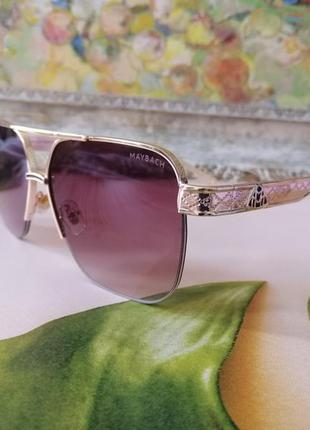 Модные солнцезащитные очки унисекс maybach в металлической оправе