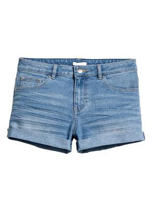 Короткие шорты из суперэластичного стираного денима от h&m