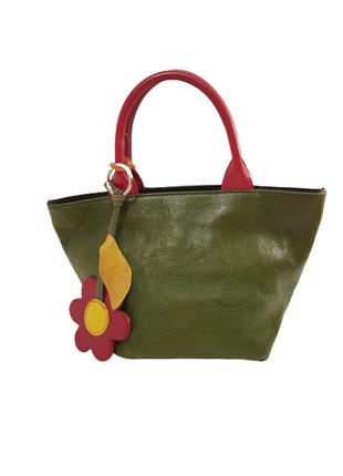 Эффектная кожаная сумочка тоут мини nobile made in italy