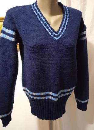 Пуловер 46-48 рукоделие.  унисекс.