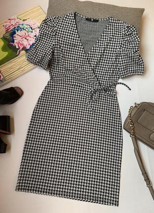 Платье by very по фигуре пышный рукав офисное нарядное осеннее