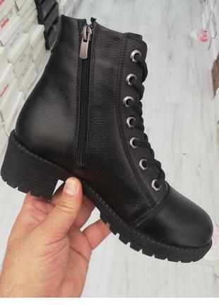 Женские зимние ботинки из натуральной кожи фабричное про-во турция