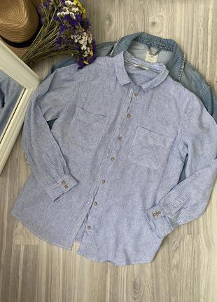 Рубашка со льном